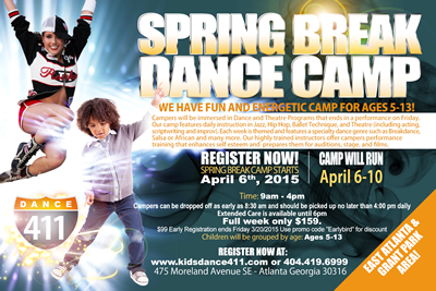 Dance 411 Spring Break Camp Atlanta