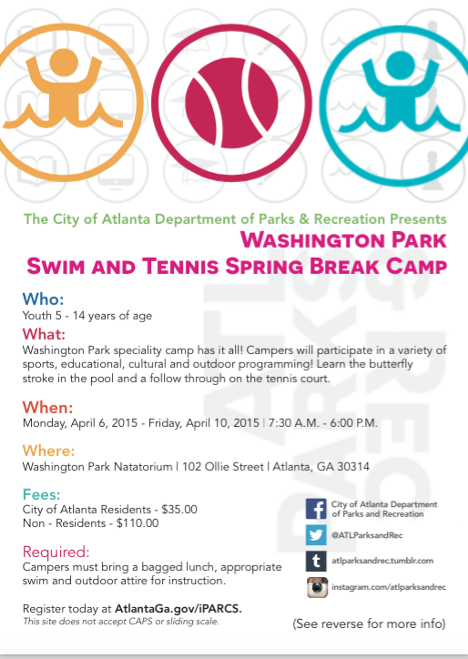 Atlanta Tennis And Swim Spring Break Camp