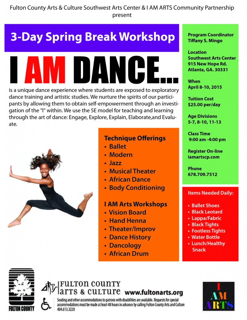 South West Arts Center Spring Break Dance Camp