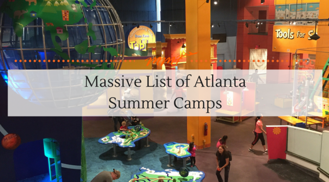 Massive List of Atlanta summer Camps