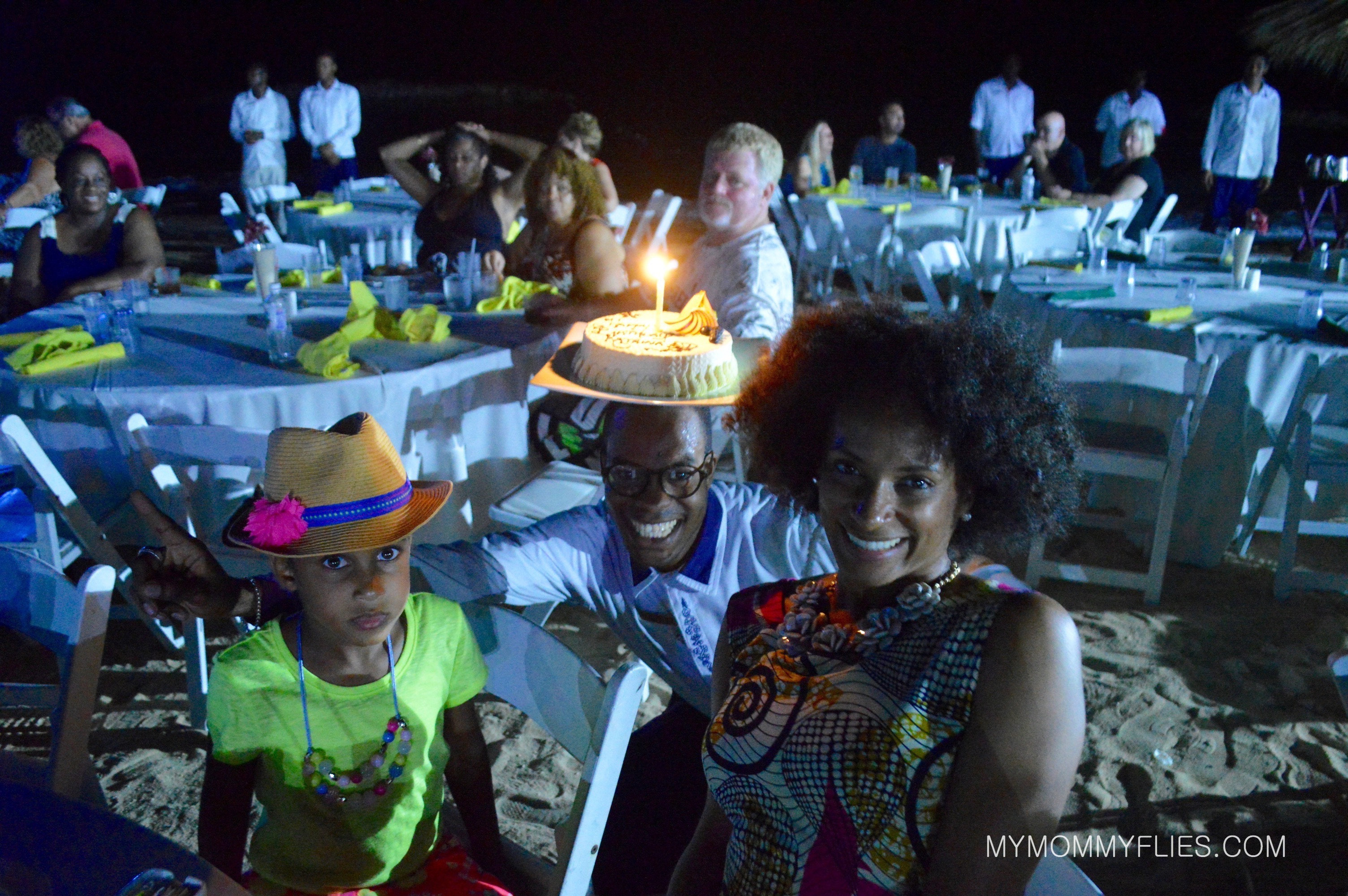 Our final night ended in a beach party and surprise birthday celebration hosted by our butler.